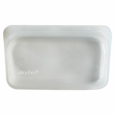 Stasher Reusable Snack Bag Clear