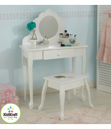 KidKraft Medium Vanity & Stool White