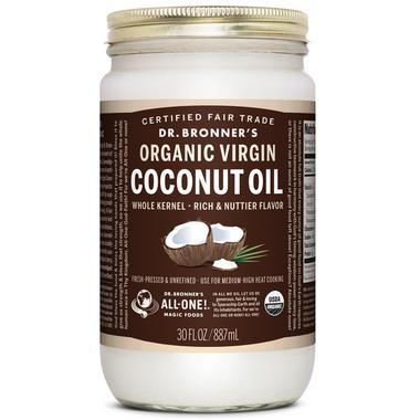 Dr. Bronner\'s Organic Whole Kernel Virgin Coconut Oil
