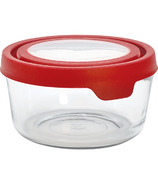 Anchor TrueSeal 7 Cup Round Storage Container with Red Lid