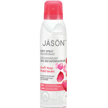 Jason Dry Spray Deodorant Soft Rose
