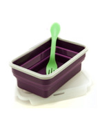 Eco Vessel Collapsible Silicone Single Compartment Container Purple