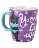 Little Blue House Ceramic Mug Yogatto Wake Up