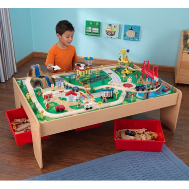 KidKraft Waterfall Mountain Train Set & Table