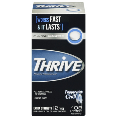 Thrive Lozenges Nicotine Replacement Peppermint Chill