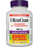 Webber Naturals UltraCran Cranberry 36:1 Concentrate Bonus Size