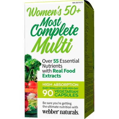 Webber Naturals Women\'s 50+ Most Complete Multi