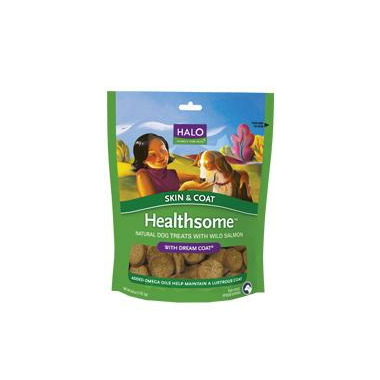 Halo Healthsome Skin & Coat Natural Dog Treats With Dream Coat