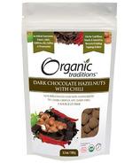 Organic Traditions Dark Chocolate Hazelnuts with Chili