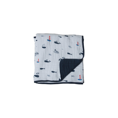 Little Unicorn Muslin Quilt Nautical Harbour