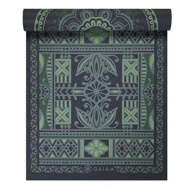 Gaiam Reversible Print Yoga Mat Boho Folk
