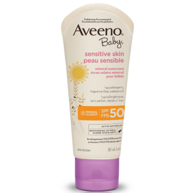 Aveeno Baby Sensitive Skin Mineral Sunscreen SPF 50