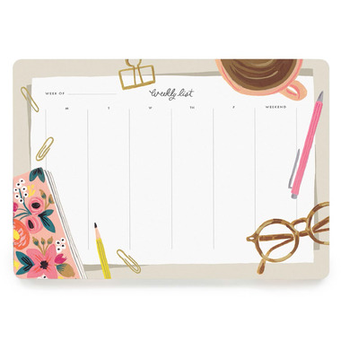 Rifle Paper Co. Desktop Weekly Desk Pad