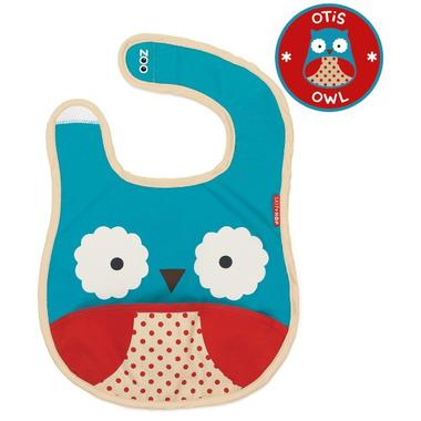 Skip Hop Zoo Bibs Tuck-Away Bib Owl Design