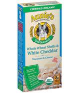 Annie's Homegrown Organic Whole Wheat Shells & White Cheddar