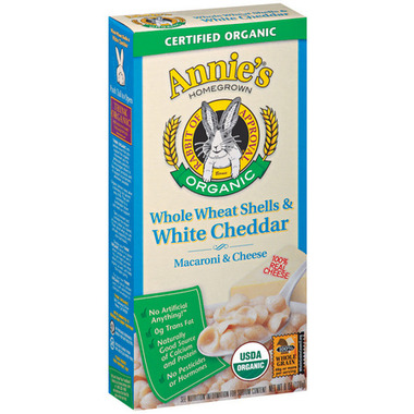 Annie\'s Homegrown Organic Whole Wheat Shells & White Cheddar