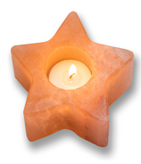 Heartfelt Living Star Salt Tea Light Holder