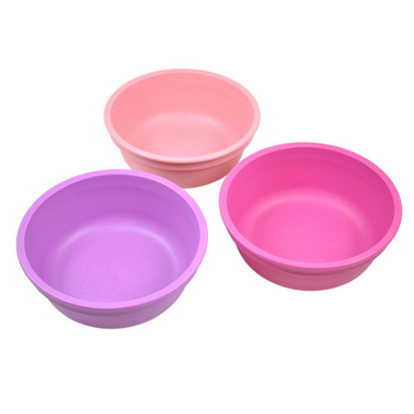 Re-Play Bowl Princess Baby Pink, Bright Pink and Purple