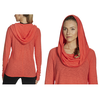 Gaiam Emery Cowl Top Coral