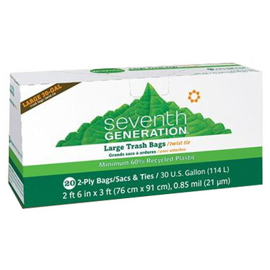 Seventh generation trash bags