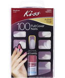 Kiss Full Cover Artificial Nails - Active Oval