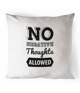 Printing Life Canada No Negative Thoughts Black Canvas Pillow
