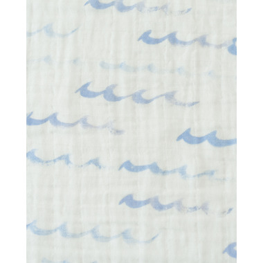 Little Unicorn Cotton Muslin Swaddle Blanket High Tide