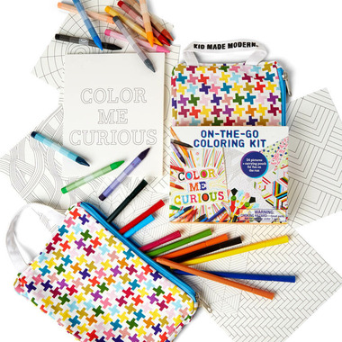 Kid Made Modern On-The-Go Colouring Kit