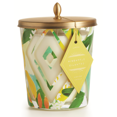 Illume Pineapple Cilantro Cameo Jar Candle