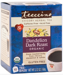 Teeccino Dandelion Dark Roast Chicory Herbal Tea