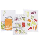 Now Designs Keep On Canning Print Tea Towel Trio