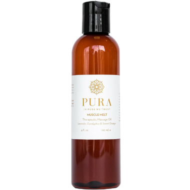 Pura Botanicals Muscle Melt Therapeutic Massage Oil