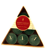 Honey Candles Triangular Gift Pack Tealights Forest Green