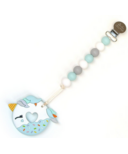 Loulou Lollipop Loulou Blue Unicorn Donut Teether