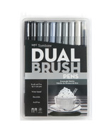 Tombow Grayscale Palette Dual Brush Pen Set