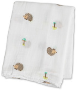 Lulujo Baby Muslin Cotton Swaddling Blanket Happy Hedgehog