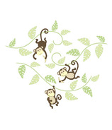 WallPops Monkeying Around Large Wall Art Kit