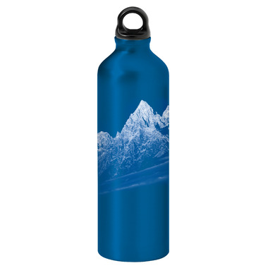 Gaiam Rocky Mountains Screw Top Aluminum Water Bottle