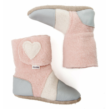 Nooks Design Felted Wool Booties Blossom
