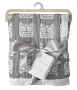 Living Textiles Muslin Jacquard Blanket Grey Owl