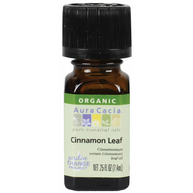 Aura Cacia Organic Cinnamon Leaf Essential Oil