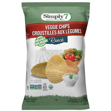 Simply 7 Organic Veggie Chips Ranch