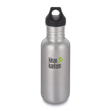Klean Kanteen Classic Bottle with Loop Cap Brushed Stainless