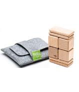 Tegu Original Pocket Pouch Magnetic Wooden Block Set - Natural
