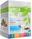 Vega One All-In-One French Vanilla Nutritional Shake Singles Box