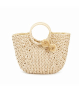 Two's Company Catalina Braided Basket Bag