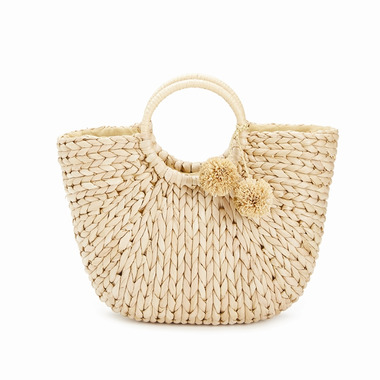 Two\'s Company Catalina Braided Basket Bag