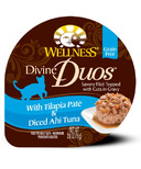 Wellness Divine Duos Tilapia Pate & Diced Ahi Tuna CASE OF 24