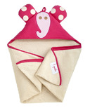 3 Sprouts Cotton Hooded Towel Pink Elephant