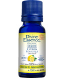 Divine Essence Lemon Organic Essential Oil